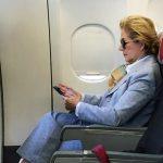 Ellen Gracie no Avião (Corte)