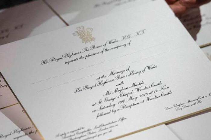Já recebeu o seu convite para o casamento de Harry e Meghan?