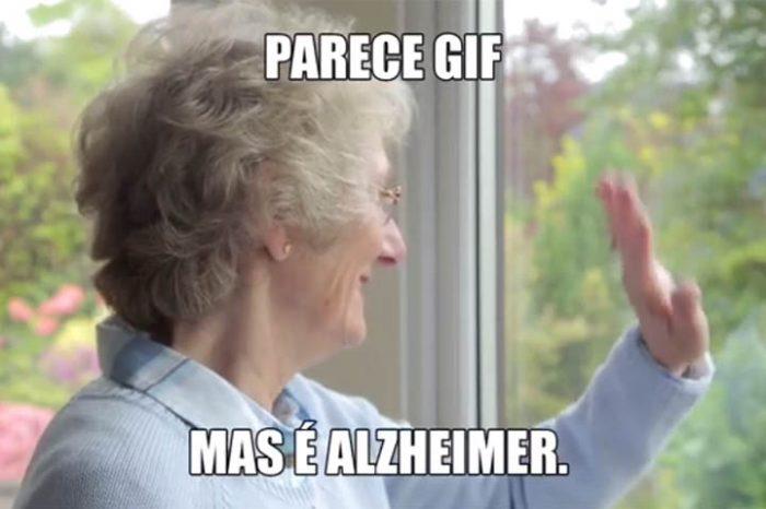 Parece GIF, mas é Alzheimer!