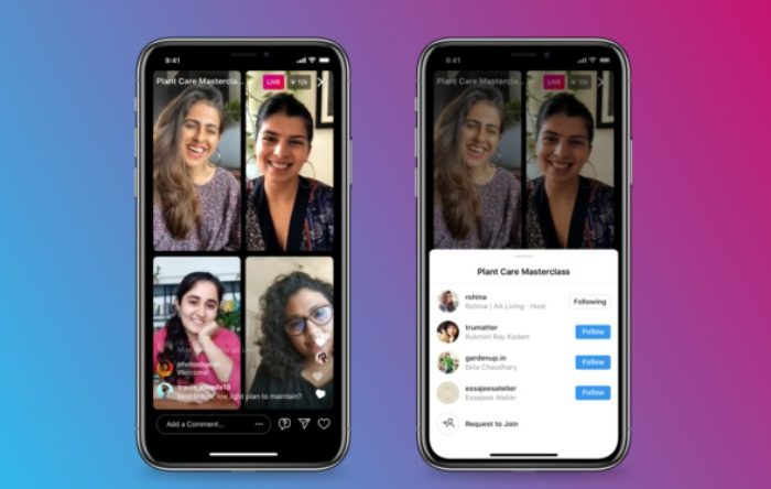 Live a quatro: Instagram lança recurso que permite mais de duas pessoas em conversas ao vivo!